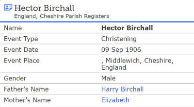 Hector Birchall 1906