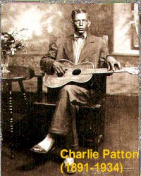 Charley Patton / Charlie Patton, his only known photograph.