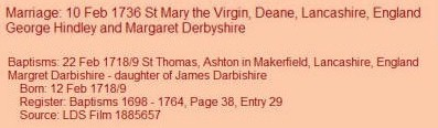 Darbyshire Marriage