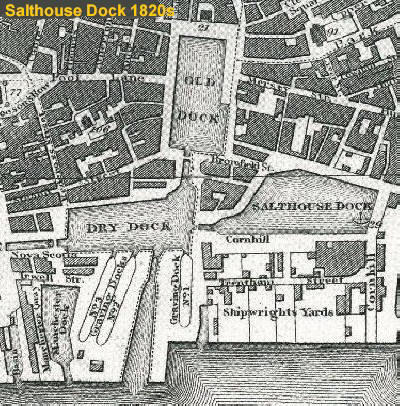 Salthouse Dock 1820s